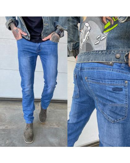 6010 Pobeda джинсы мужские полубатальные синие весенние стрейчевые (32-42, 8 ед.) Pobeda