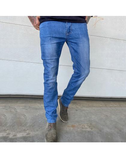 6008 Pobeda джинсы мужские полубатальные синие весенние стрейчевые (32-40, 8 ед.) Pobeda