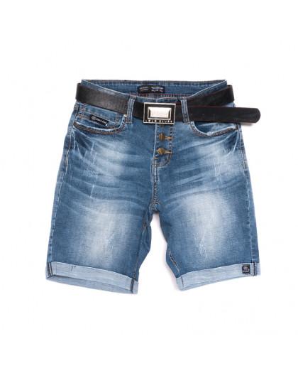 0115-6 A Relucky шорты джинсовые женские с царапками синие стрейчевые (25-30, 6 ед.) Relucky