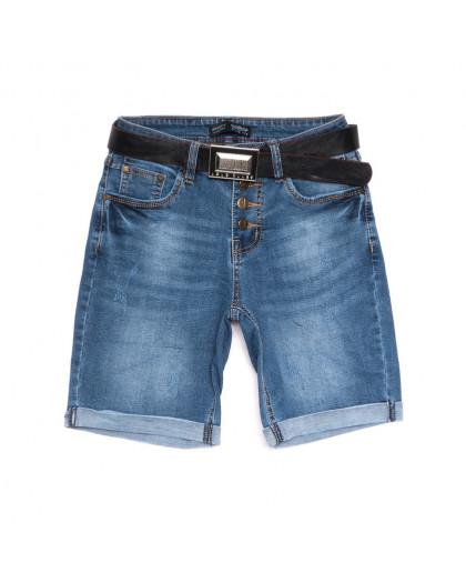 0111-6 A Relucky шорты джинсовые женские с царапками синие стрейчевые (25-30, 6 ед.) Relucky
