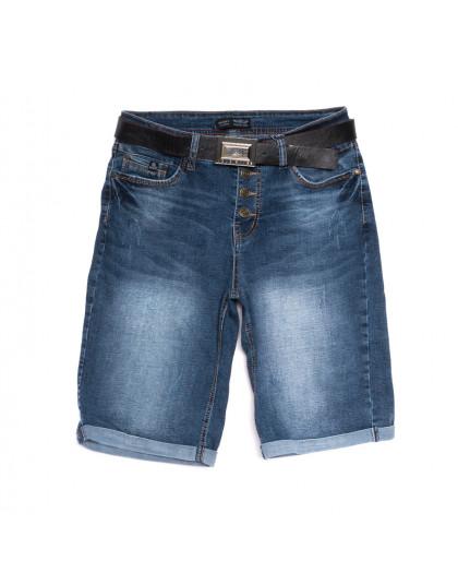 0123-6 A Relucky шорты джинсовые женские с царапками синие стрейчевые (25-30, 6 ед.) Relucky