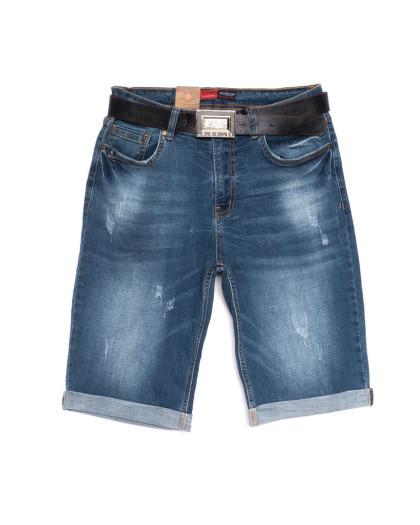 5554-5 A Relucky шорты джинсовые женские батальные синие стрейчевые (31-38, 6 ед.) Relucky