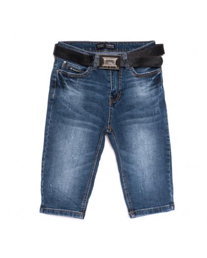 0604-6 A Relucky шорты джинсовые женские с царапками синие стрейчевые (25-30, 6 ед.) Relucky