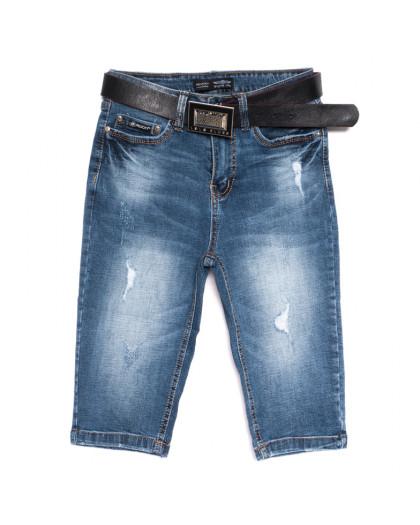 0600-6 A Relucky шорты джинсовые женские с рванкой синие стрейчевые (25-30, 6 ед.) Relucky
