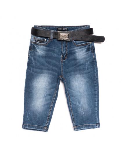 0601-6 A Relucky шорты джинсовые женские с царапками синие стрейчевые (25-30, 6 ед.) Relucky