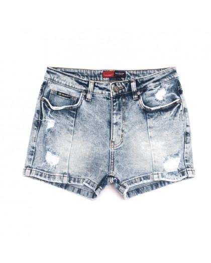 6670-5 A Relucky шорты джинсовые женские с рванкой синие коттоновые (25-30, 6 ед.) Relucky