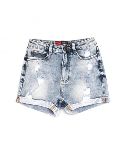 6660-5 А Relucky шорты джинсовые женские с рванкой синие стрейчевые (25-30, 6 ед.) Relucky