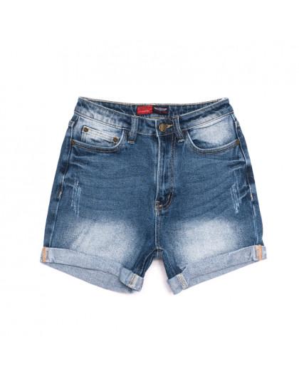 6661-5 А Relucky шорты джинсовые женские с царапками синие стрейчевые (25-30, 6 ед.) Relucky