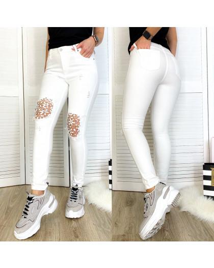 0414 Periscope джинсы женские белые с декоративной отделкой летние стрейчевые (36-42, евро, 8 ед.) Periscope