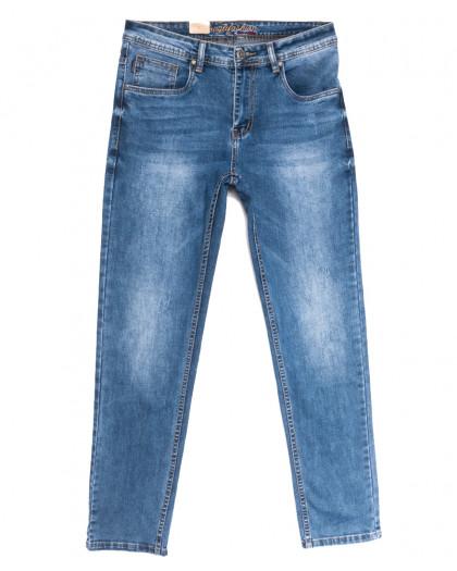 2218 Longli джинсы мужские полубатальные с царапками синие весенние стрейчевые (32-38, 8 ед.) Longli