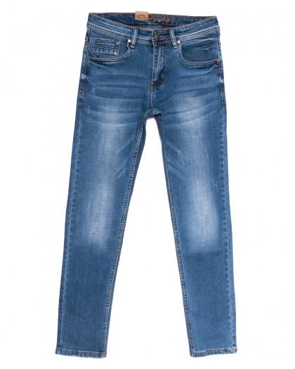 2185 Longli джинсы мужские с царапками синие весенние стрейчевые (29-38, 8 ед.) Longli