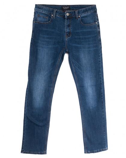 0639-В Likgass джинсы мужские синие весенние стрейчевые (30-38, 8 ед.) Likgass