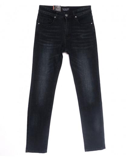 0640-А Likgass джинсы мужские молодежные черные весенние стрейчевые (28-36, 8 ед.) Likgass