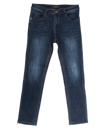 0705-А Likgass джинсы мужские полубатальные синие весенние стрейчевые (32-40, 8 ед.) Likgass