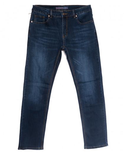 0647-А Likgass джинсы мужские полубатальные синие весенние стрейчевые (32-38, 8 ед.) Likgass