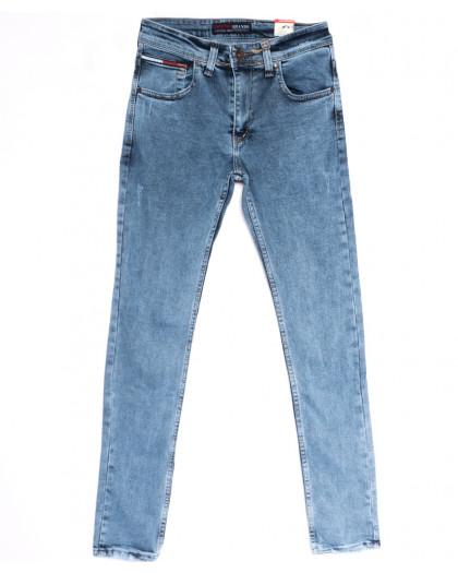 6817 Destry джинсы мужские с царапками синие весенние стрейчевые (29-36, 8 ед.) Destry