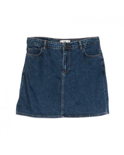 6010-В2 Real Focus юбка джинсовая синяя весенняя стрейчевая (30-34,евро, 5 ед.) Real Focus