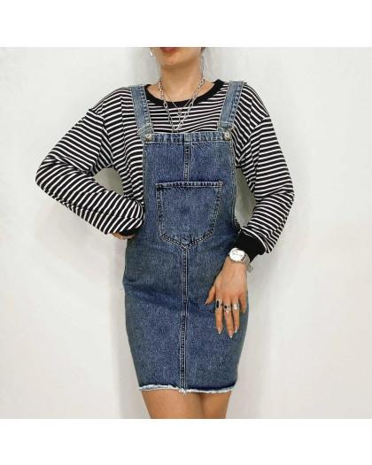 2964-2 Xray сарафан джинсовый синий весенний коттоновый  (34-40,евро, 6 ед.) XRAY