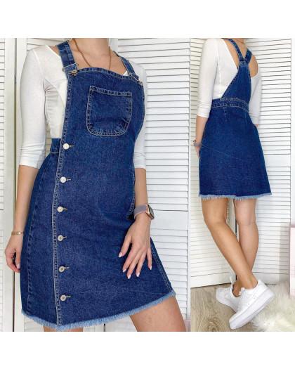 2890 Xray сарафан джинсовый на пуговицах синий весенний коттоновый  (42-48,евро, 4 ед.) XRAY