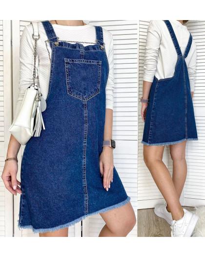 2975-1 Xray сарафан джинсовый синий весенний коттоновый  (42-48,евро, 4 ед.) XRAY