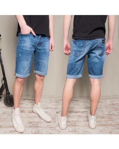 9917-3 R Relucky шорты джинсовые мужские синие стрейчевые (29-38, 8 ед.) Relucky