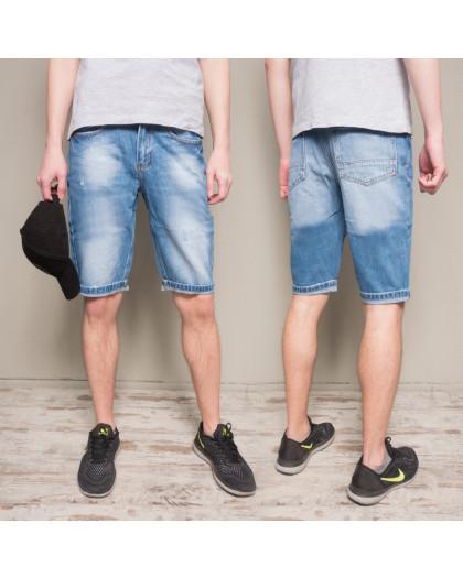 8812-4 R Relucky шорты джинсовые мужские молодежные синие коттоновые (28-36, 8 ед.) Relucky