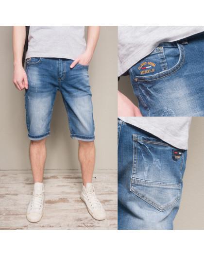 5506-5 R Relucky шорты джинсовые мужские полубатальные стрейчевые (32-42, 8 ед.) Relucky