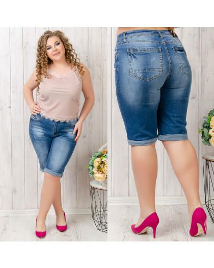 5564-6 A Relucky шорты джинсовые женские батальные синие стрейчевые (31-38, 6 ед.) Relucky