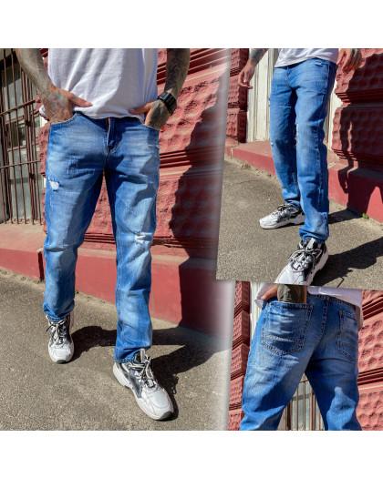 9901-3 Relucky джинсы мужские голубые стрейчевые (8 ед. размеры: 29.30.31.32.33.34.36.38) Relucky