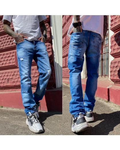 9901-3 R Relucky джинсы мужские с рванкой синие весенние стрейчевые (29-38, 8 ед.) Relucky