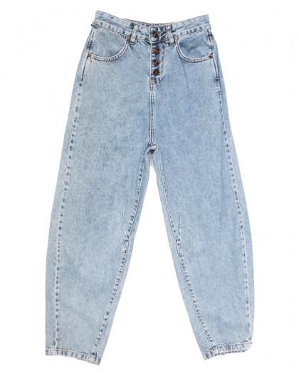 9748 Poshum джинсы-баллон синие весенние коттоновые (25-30, 6 ед.) Blue 69