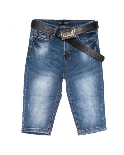 0603-6 Relucky шорты джинсовые женские с царапками синие стрейчевые (25-30, 6 ед.) Relucky