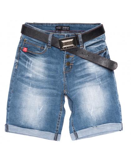 0113-6 Relucky шорты джинсовые женские с царапками синие стрейчевые (25-30, 6 ед.) Relucky