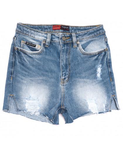 6666-5 Relucky шорты джинсовые женские с рванкой синие стрейчевые (25-30, 6 ед.) Relucky
