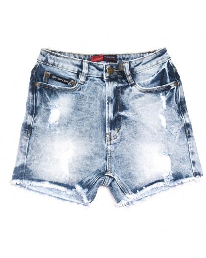 6667-5 Relucky шорты джинсовые женские с рванкой синие стрейчевые (25-30, 6 ед.) Relucky