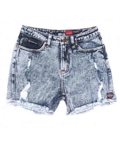 6668-5 Relucky шорты джинсовые женские с рванкой синие стрейчевые (25-30, 6 ед.) Relucky