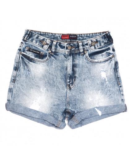 6674-5 Relucky шорты джинсовые женские с рванкой синие стрейчевые (25-30, 6 ед.) Relucky
