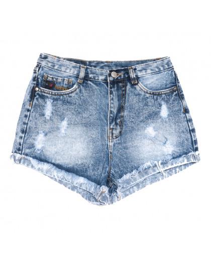 0051-15 Relucky шорты джинсовые женские с рванкой синие коттоновые (25-30, 6 ед.) Relucky