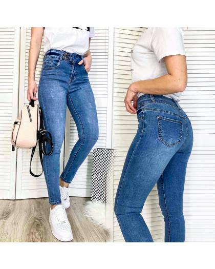 3665 New jeans джинсы женские зауженные синие весенние стрейчевые (25-30, 6 ед.) New Jeans