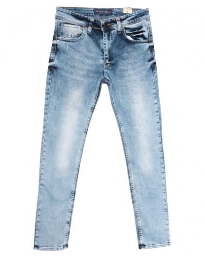 6776 Redcode джинсы мужские с царапками синие весенние стрейчевые (29-36, 8 ед.) Redcode