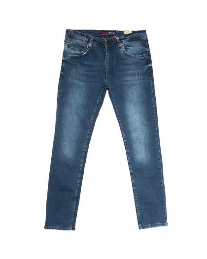 6682 Destry джинсы мужские с царапками синие весенние стрейчевые (29-36, 8 ед.) Destry