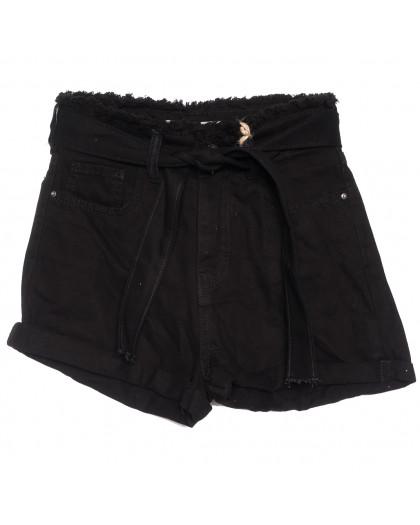 0210 Dobre шорты джинсовые женские черные коттоновые (34-42,евро, 5 ед.) Dobre