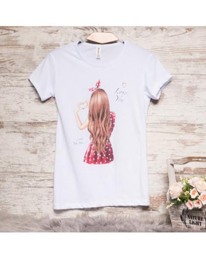 Белая женская футболка с принтом Akkaya 3206-3 Akkaya