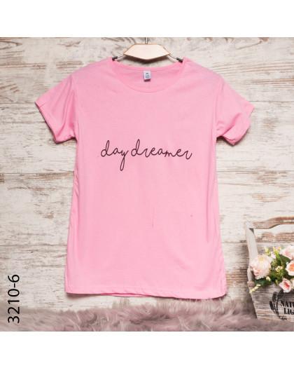 Женская розовая футболка с принтом 3210-6 Carla Mara