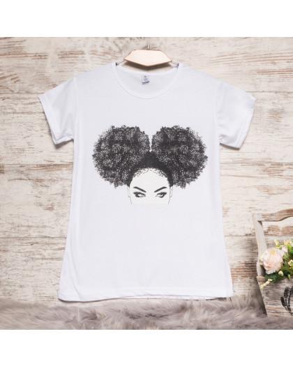 Белая женская футболка с принтом Carla Mara 3207-3 Carla Mara