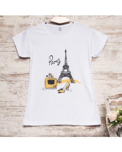 Белая женская футболка с принтом Carla Mara 3212-3 Carla Mara