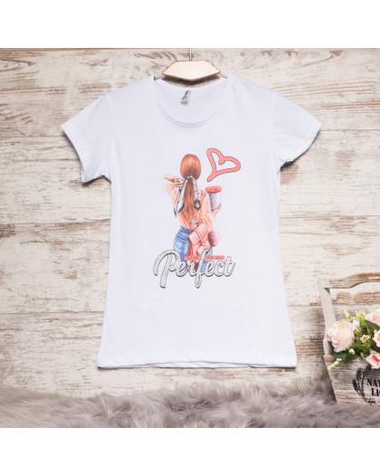 Белая женская футболка с принтом Akkaya 3202-4 Akkaya