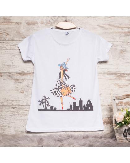 Белая женская футболка с принтом Carla Mara 3211-4 Carla Mara