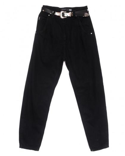 0835 Sherocco джинсы-баллон черные весенние коттоновые (25-30, 6 ед.) SheRocco