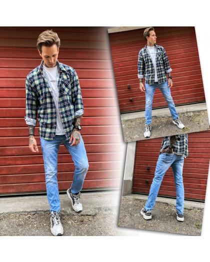 2336-02 Dark Blue джинсы мужские зауженные осенние стрейчевые (29,30,31,32,33,34,36,, 7 ед.) Dark Blue
